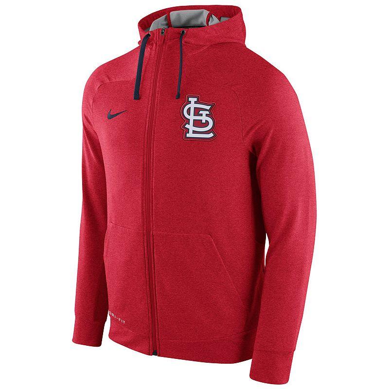Men's Nike St. Louis Cardinals Dri-FIT Full-Zip Hoodie
