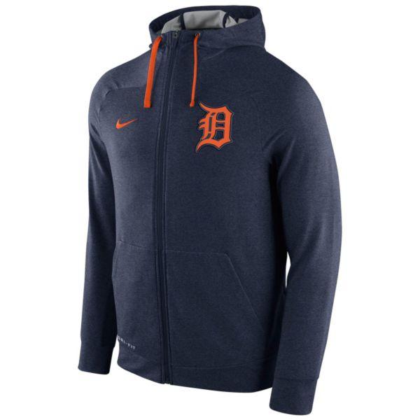 Men's Nike Detroit Tigers Dri-FIT Full-Zip Hoodie