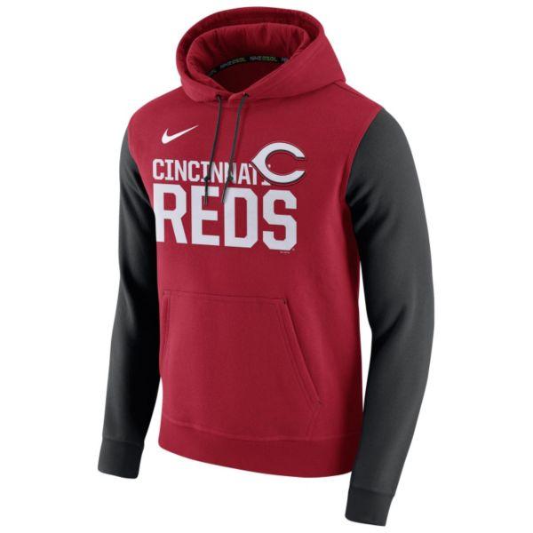 Men's Nike Cincinnati Reds Club Fleece Pullover Hoodie