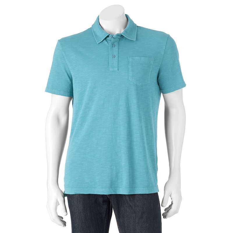 Men's SONOMA Goods for Life™ Garment-Dyed Slubbed Polo