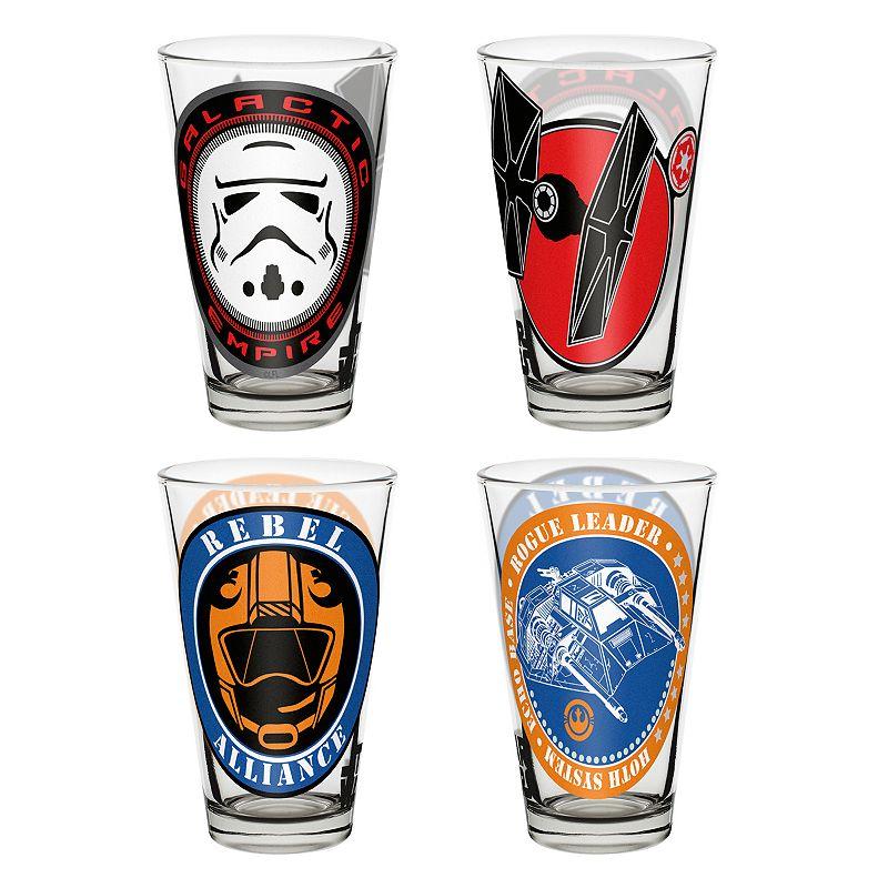 Star Wars Classic 4-pc. 10-oz. Glass Tumbler Set by Zak Designs