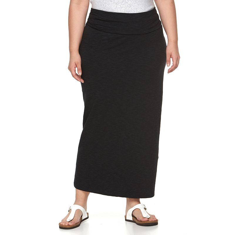 Plus Size Columbia Face Rock Maxi Skirt