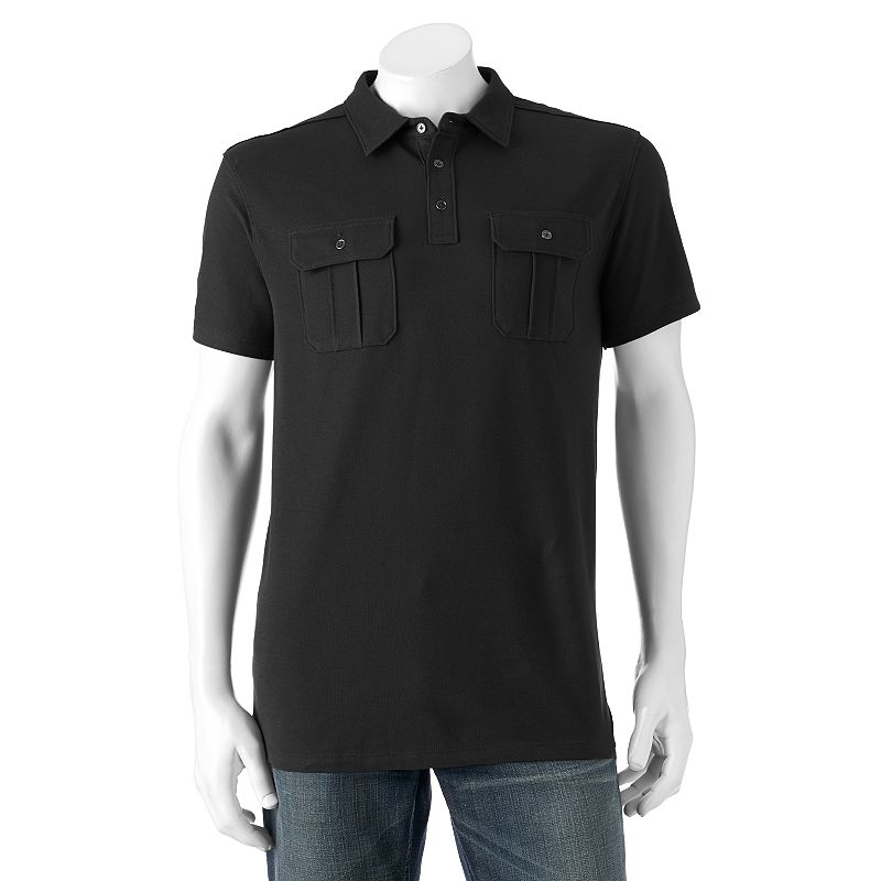 Men's Apt. 9® Solid Pique Military Polo