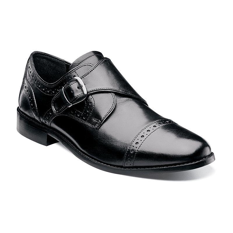 Nunn Bush Newton Men's Monk Strap Cap Toe Dress Shoes