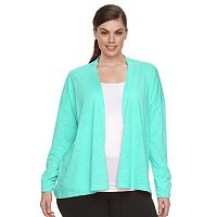 Plus Size Columbia Meadow Wing Burnout Open-Front Cardigan