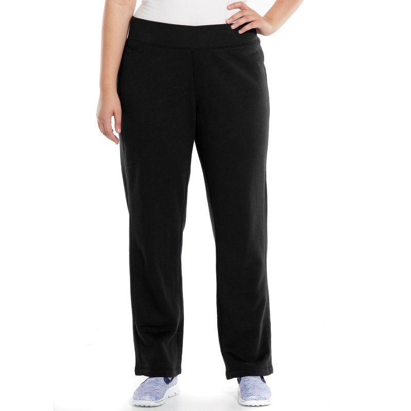 Plus Size Tek Gear Fleece-Lined Workout Pants, Women's, Size: 1X, Black