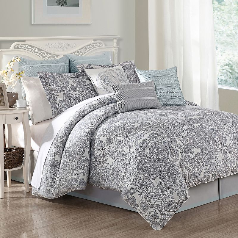 Grey cal king bedding kohl39s for Kohl s cal king bed set