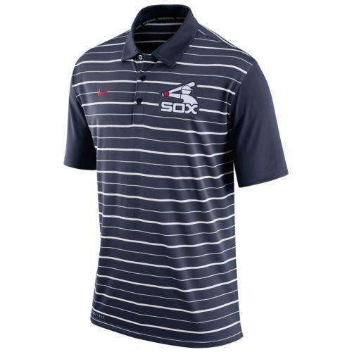 Men's Nike Chicago White Sox Striped Dri-FIT Performance Polo