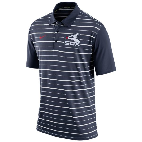 Men's Nike Chicago White Sox Striped Dri-FIT Performance Polo