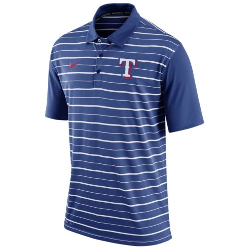 Men's Nike Texas Rangers Striped Dri-FIT Performance Polo