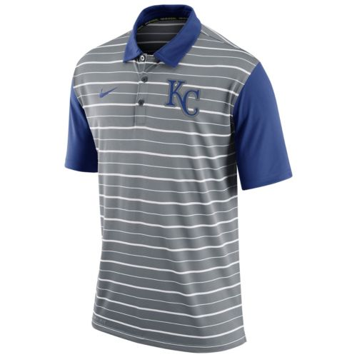 Men's Nike Kansas City Royals Striped Dri-FIT Performance Polo