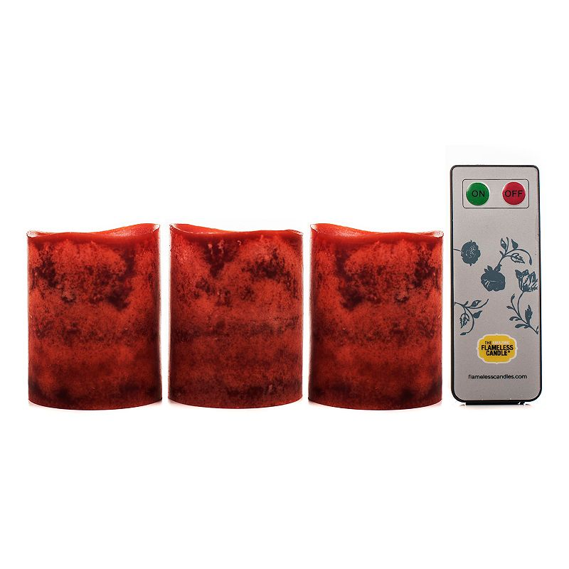 The Amazing Flameless Candle 3-piece Pecan Flameless Votive Set