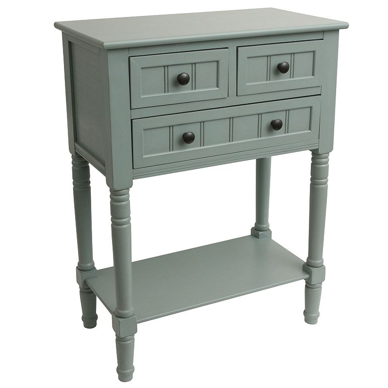 Decor Therapy Simplify 3-Drawer Console Table, Blue