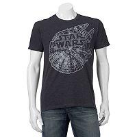 Men's Star Wars Falcon Plans Tee