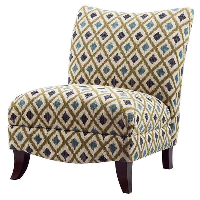 Madison Park Farren Ikat Armless Curved Back Chair