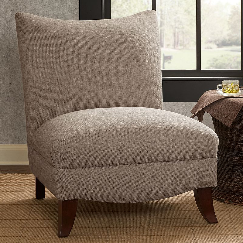 Madison Park Farren Armless Curved Back Chair