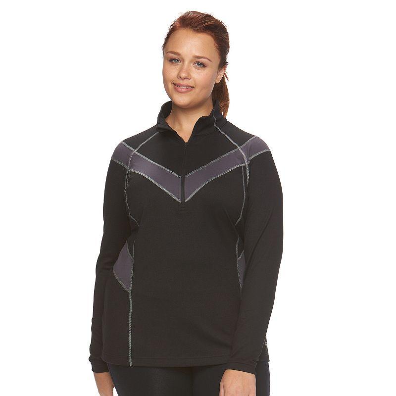 Plus Size FILA SPORT® Quarter-Zip Mockneck Workout Jacket