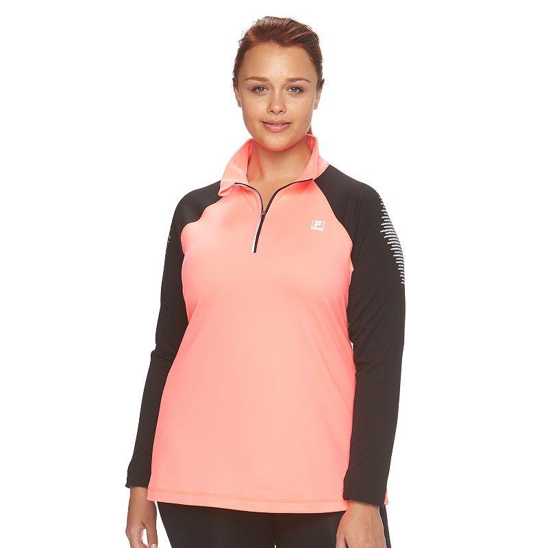 Plus Size FILA SPORT® Reflective Colorblock Jacket