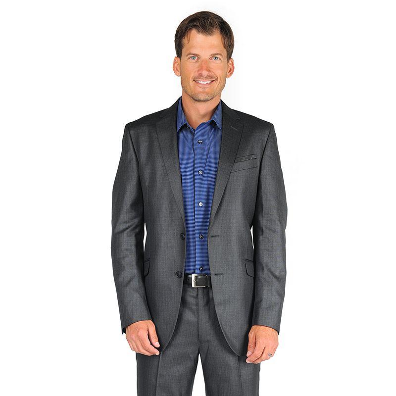 Men's Billy London Slim-Fit Mini-Checked Suit Jacket