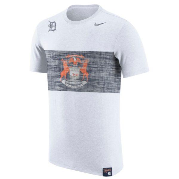 Men's Nike Detroit Tigers Flag Tri-Blend Tee