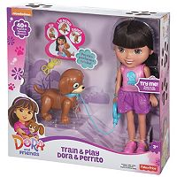 Nickelodeon Dora & Friends Train & Play Dora and Perrito by Fisher-Price