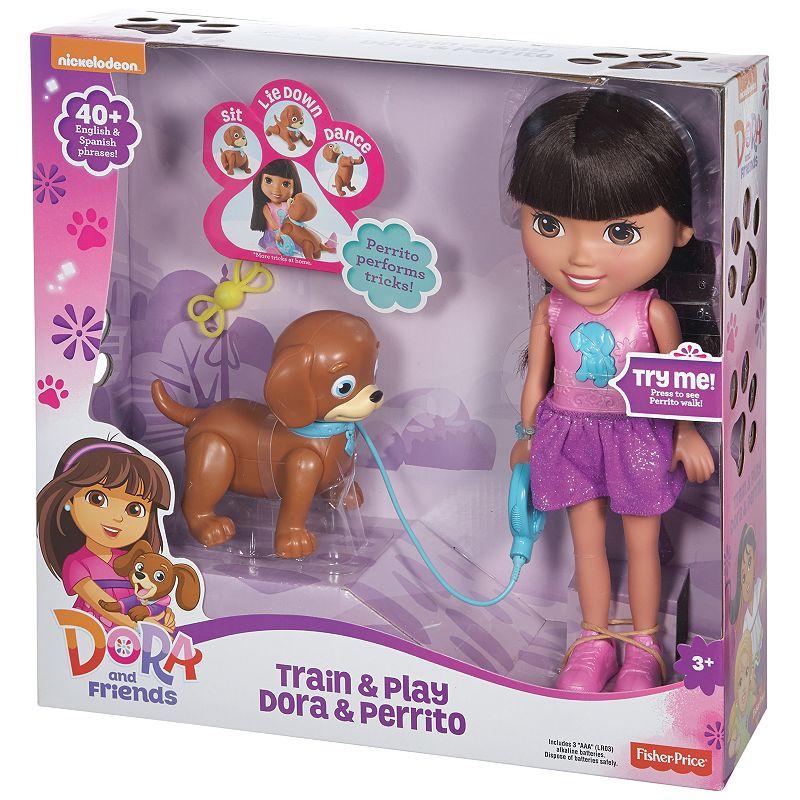 Nickelodeon Dora & Friends Train & Play Dora and Perrito by Fisher-Price