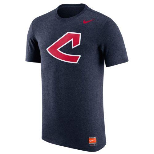 Men's Nike Cleveland Indians Logo Tri-Blend Tee