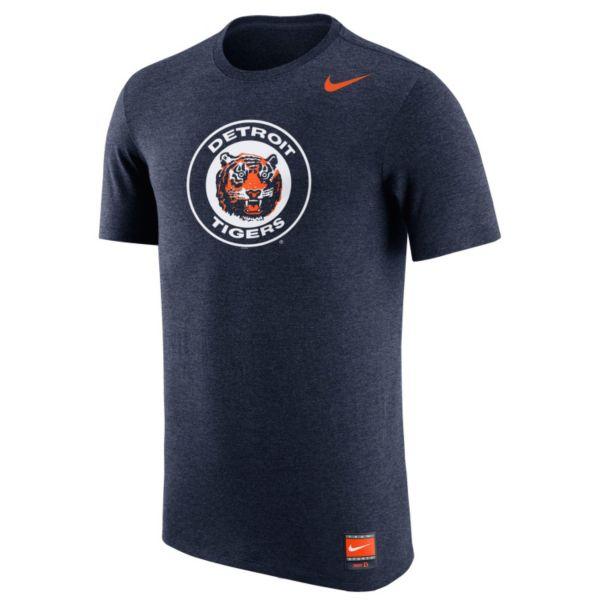 Men's Nike Detroit Tigers Logo Tri-Blend Tee