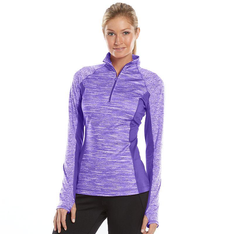 Women's Tek Gear® Quarter-Zip Mockneck Fleece-Lined Workout Jacket