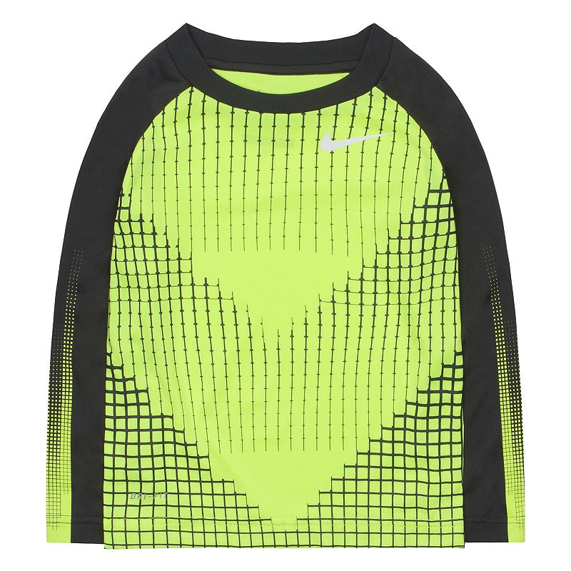Toddler Boy Nike Dri-FIT Chevron Raglan Tee