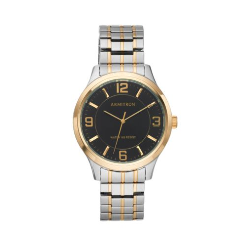 Armitron Men's Two Tone Expansion Watch - 20/5076BKTT