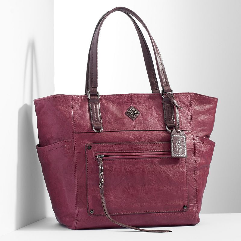 Simply Vera Vera Wang Monaco Leather Tote