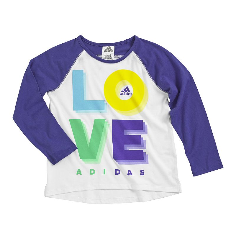 Girls 4-6x adidas Graphic Raglan Tee