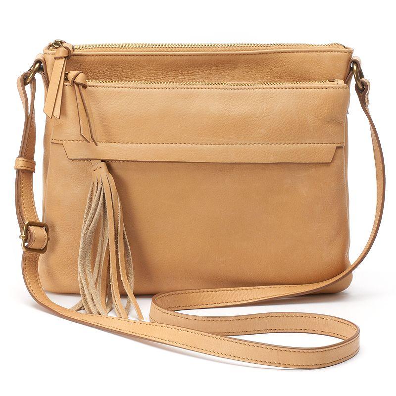 Leather Accordion Messenger Bag