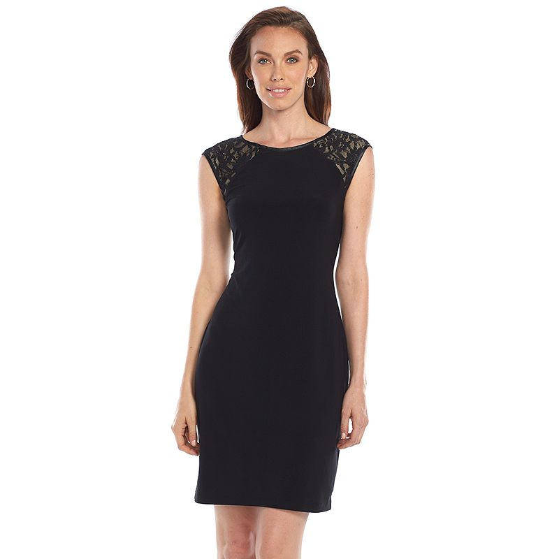 Ronni Nicole Lace-Shoulder Sheath Dress - Women's