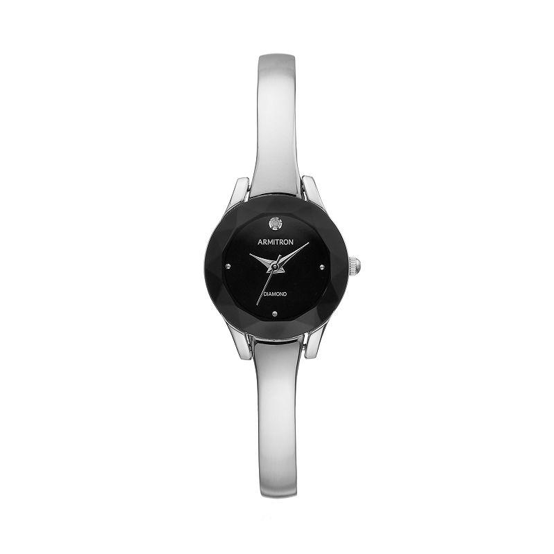 ArmitronWomen's Diamond Half-Bangle Watch - 75/5327BKSV