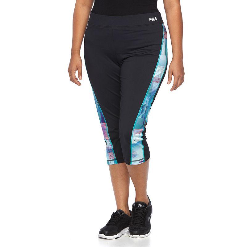 Plus Size FILA SPORT® Printed Running Capris