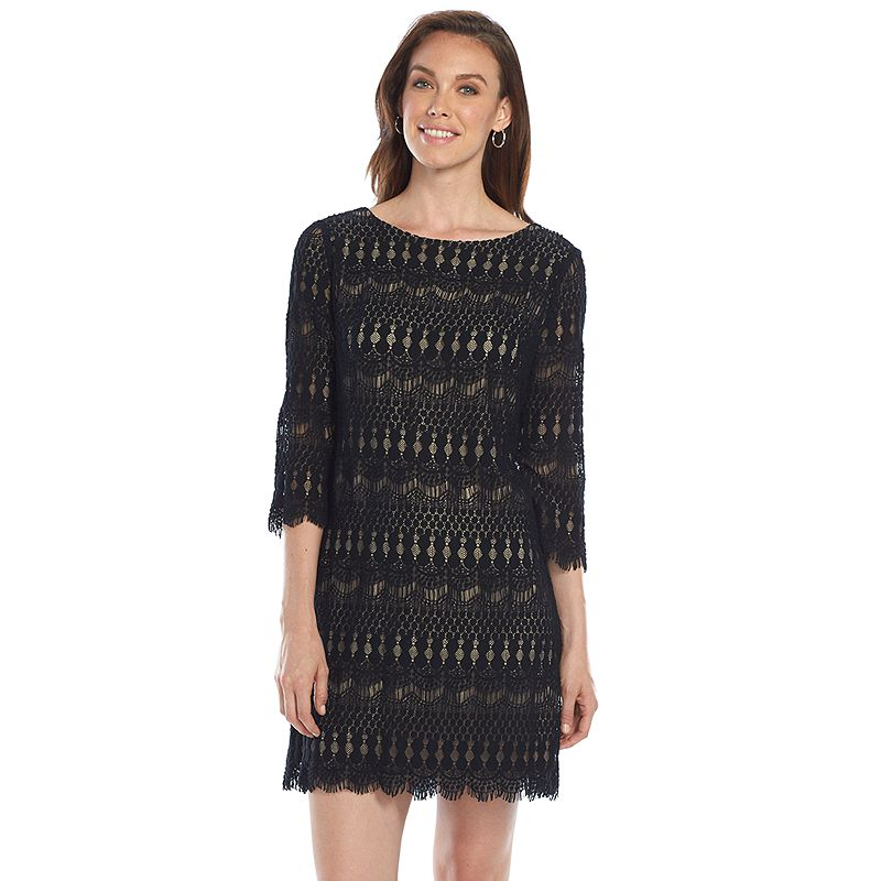 Ronni Nicole Lace Shift Dress - Women's