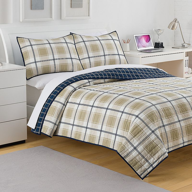 IZOD Fairfax Plaid Reversible Quilt