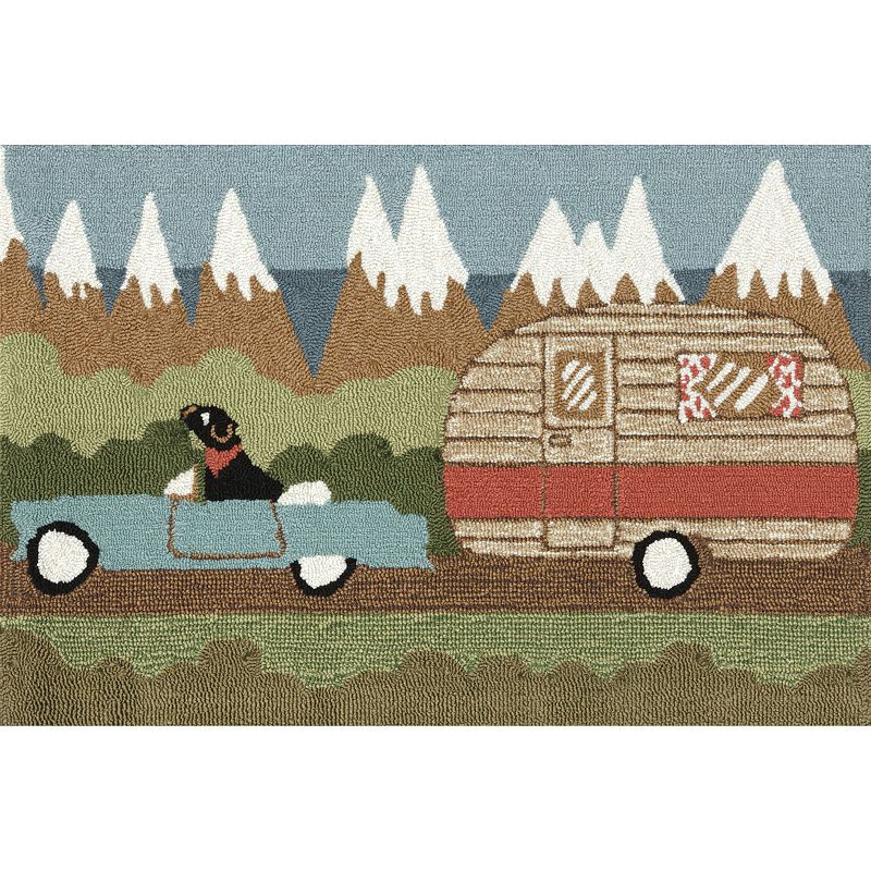 Trans Ocean Imports Liora Manne Frontporch Camping Dog Indoor Outdoor Rug