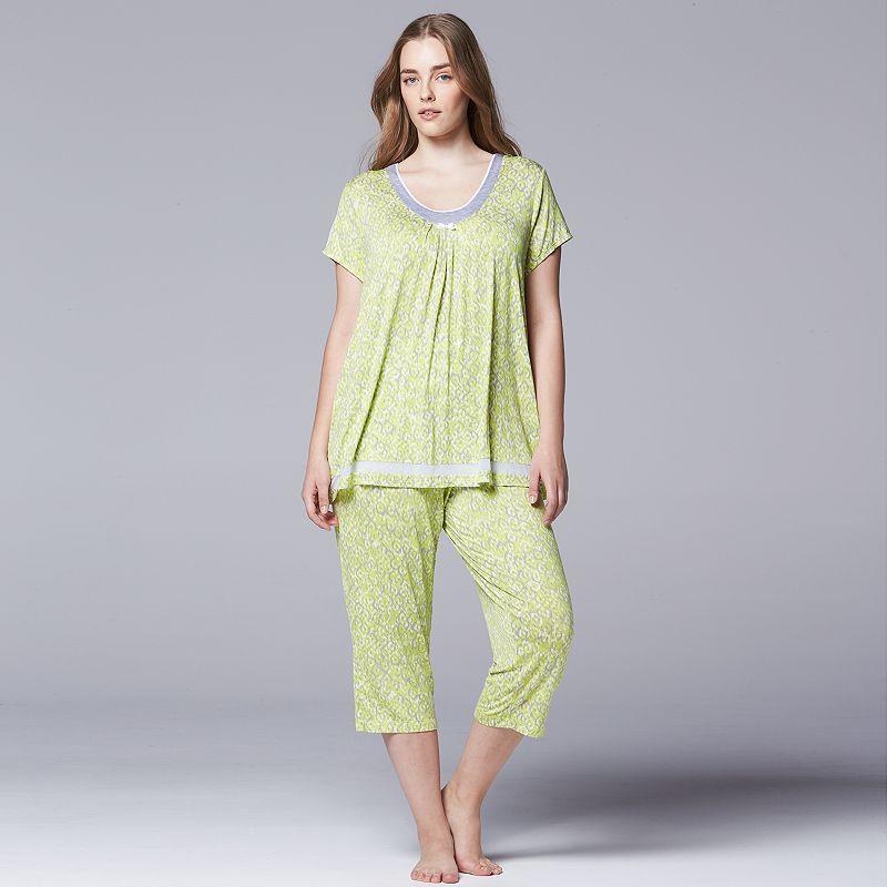 Plus Size Simply Vera Vera Wang Pajamas: Sweet Sunshine Pajama Set