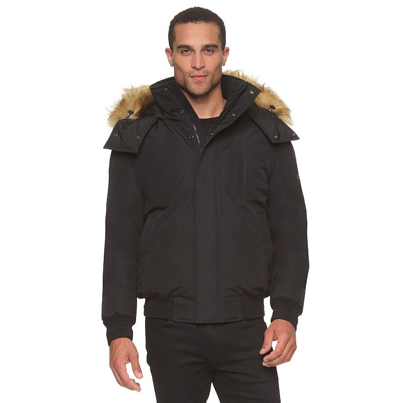Men's AM Studio by Andrew Marc Hooded Down Bomber Jacket