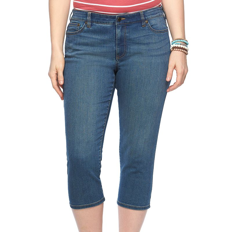 Plus Size Chaps Straight-Leg Denim Capris
