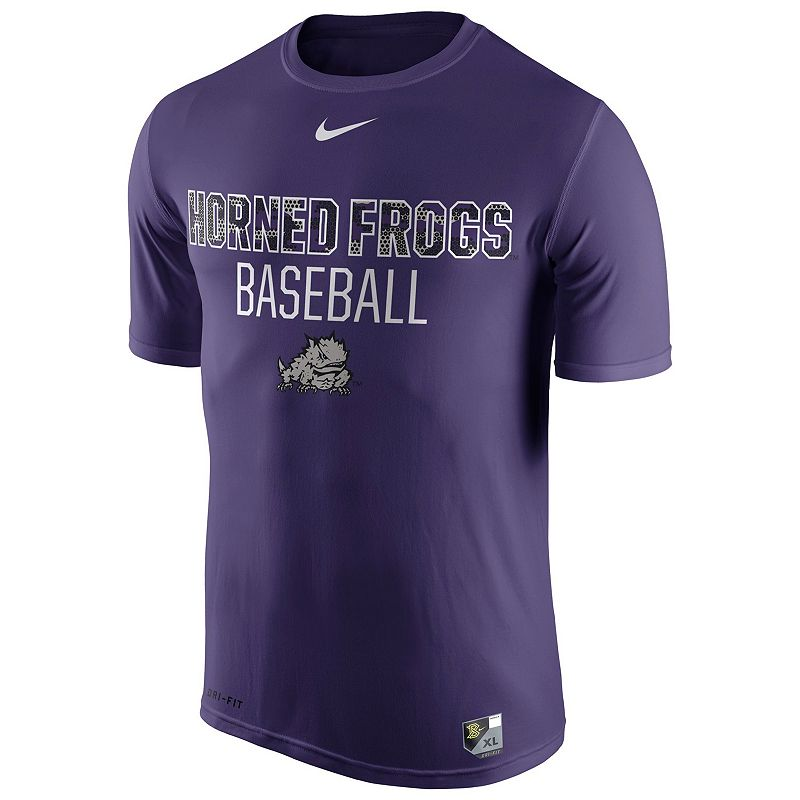 Men's Nike TCU Horned Frogs Team Issue Baseball Legend Dri-FIT Tee
