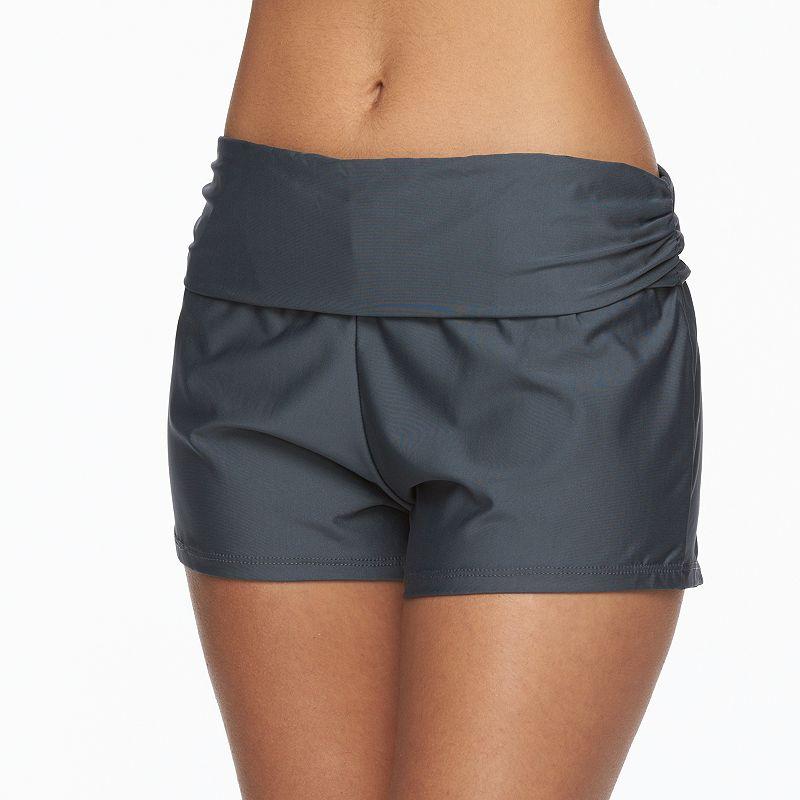 Women's N Foldover Swim Shorts