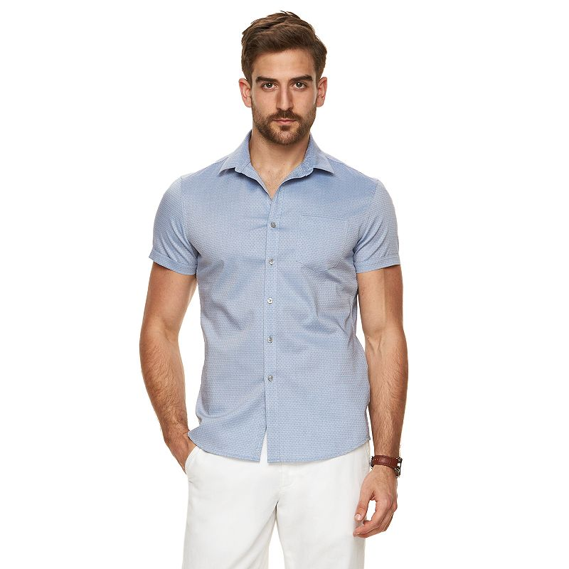 Men's Marc Anthony Extra-Slim Fit Patterned Button-Down Shirt
