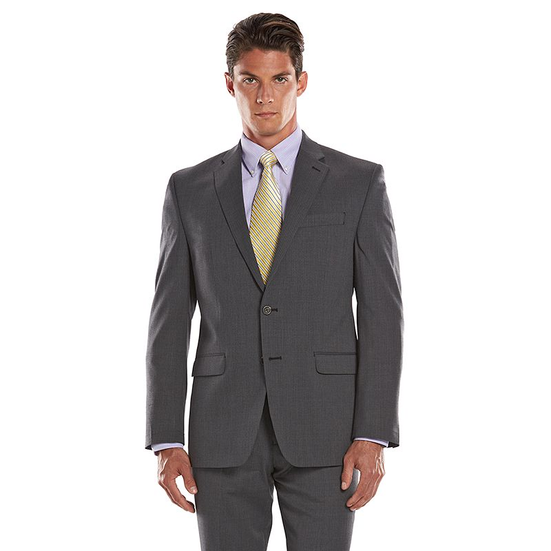 Big & Tall Chaps Classic-Fit Gray Wool-Blend Comfort Stretch Suit Jacket