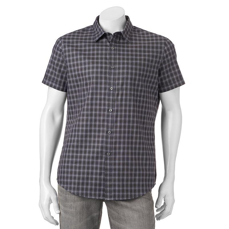 Apt. 9® Slim-Fit Plaid Woven Button-Down Shirt - Men