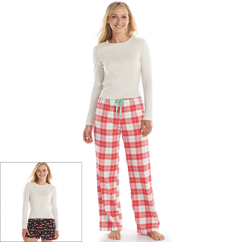 Women's SONOMA Goods for Life™ Pajamas: Plaid 3-pc. Pajama Gift Set