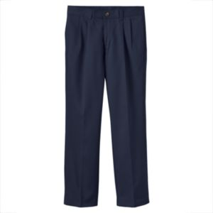 Boys 8-20 Chaps School Uniform Pleated Twill Pants